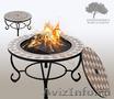 Мозаичный стол барбекю! Костровый стол,  мангал