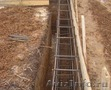 Земляные работы:Копка, Устройство фундаментов, Стяжка, Отмостка