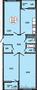 3-комнатная квартира 84.58 м² в ЖК